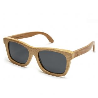 ORIGINAL FLOATING BAMBOO WAYFARER SUNGLASSES - BLACK LENS